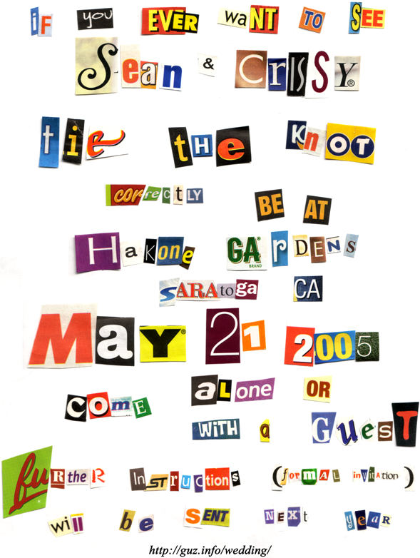 Real Ransom Notes